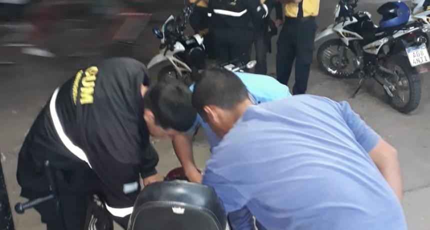 Varios secuestros tras operativo de control de documentación de motos en Barranqueras.
