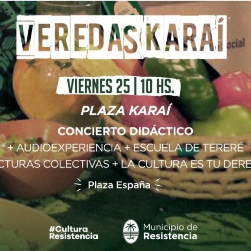 """""""Veredas Karaí"""": continúa la propuesta del área de cultura de la Municipalidad de Resistencia"""