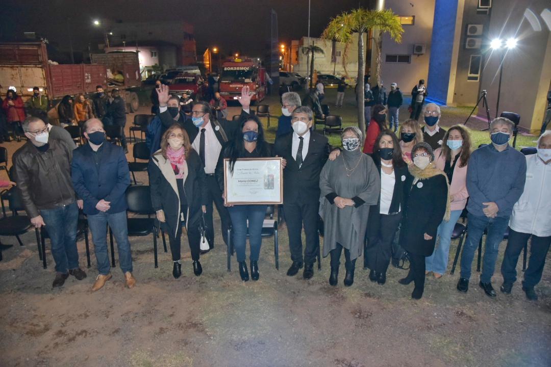 Resistencia: Distinguieron a la bombera voluntaria María Gómez con el premio