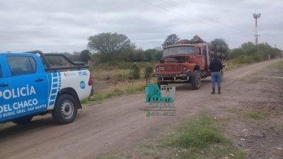 Gral. San Martín: transportaba madera son guías, termino aprehendido por amenazar con prender fuego el camión.