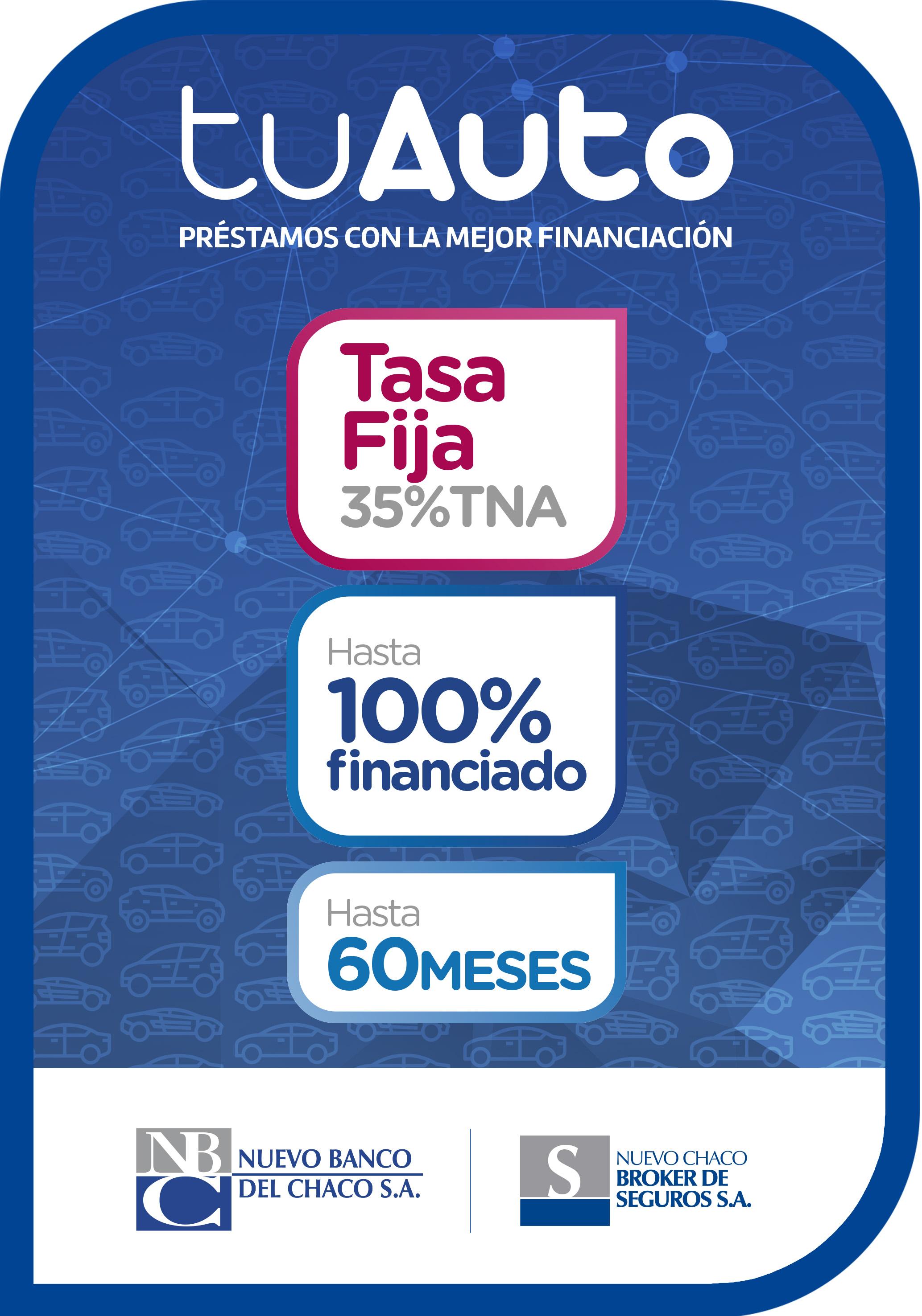 Con la línea Tu Auto, Nuevo Banco del Chaco permite financiar vehículos usados con tasa fija y en hasta 60 meses