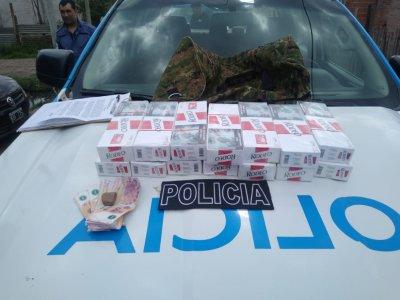Resistencia: fue detenido con brezas de cigarrillos ilegales.