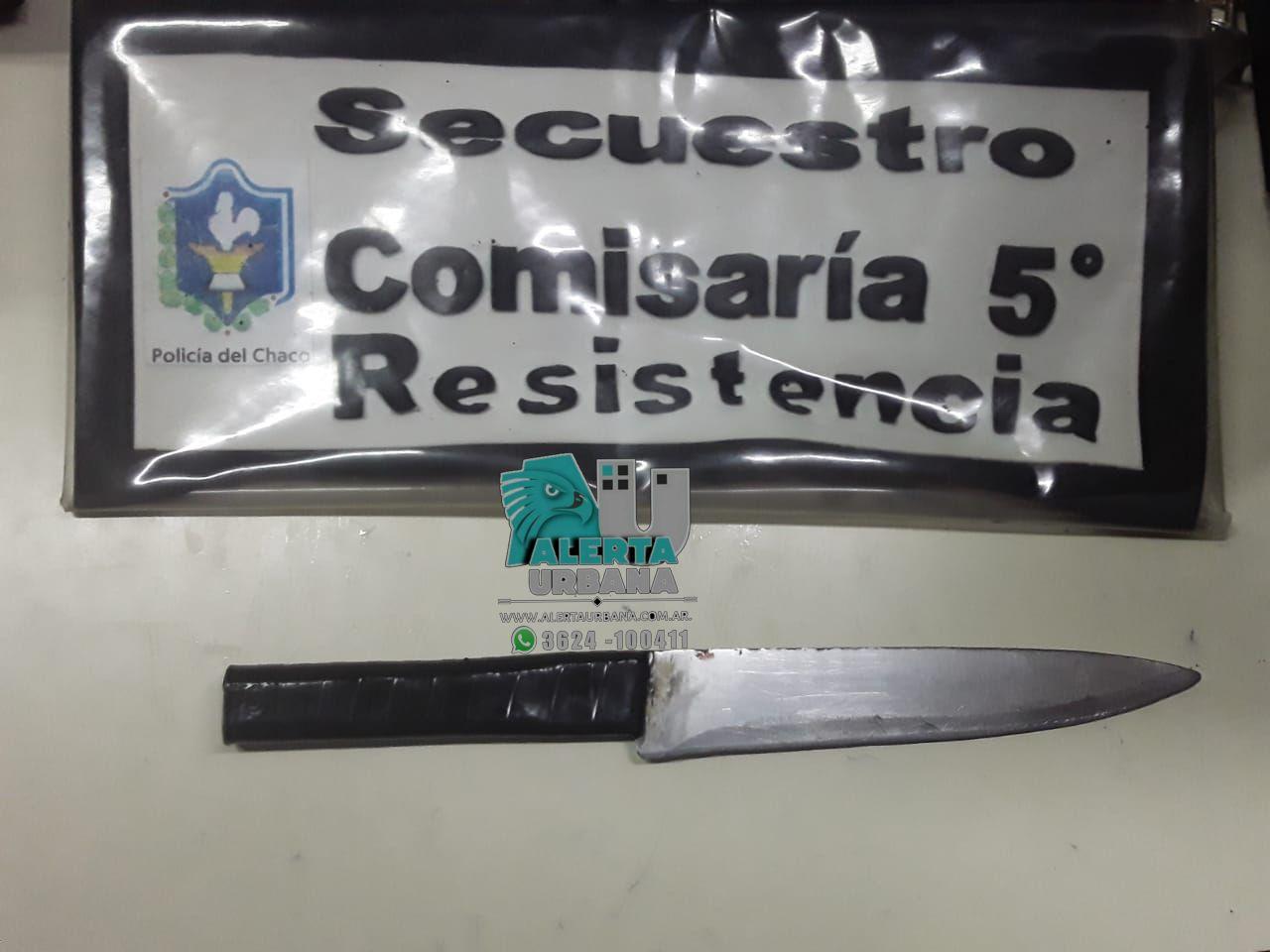Resistencia: Fue detenido por intentar sustraer un teléfono con un cuchillo