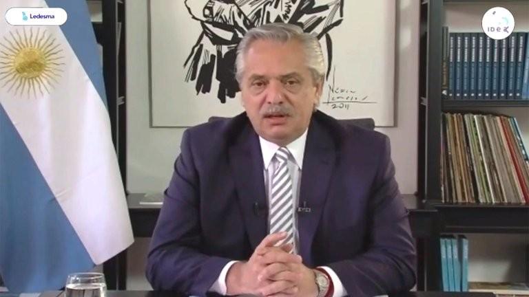 Alberto Fernández, ante los empresarios de IDEA: descartó una devaluación y aseguró que jamás tocaría los depósitos en dólares