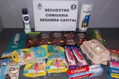 Resistencia: sustrajo mercaderías de un supermercado y fue detenido.