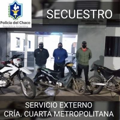 Recuperan moto robada de una vivienda en Villa Barberán
