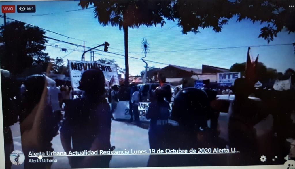 Movimientos Sociales fueron desalojados por interrumpir el tránsito en Avenida 9 de Julio