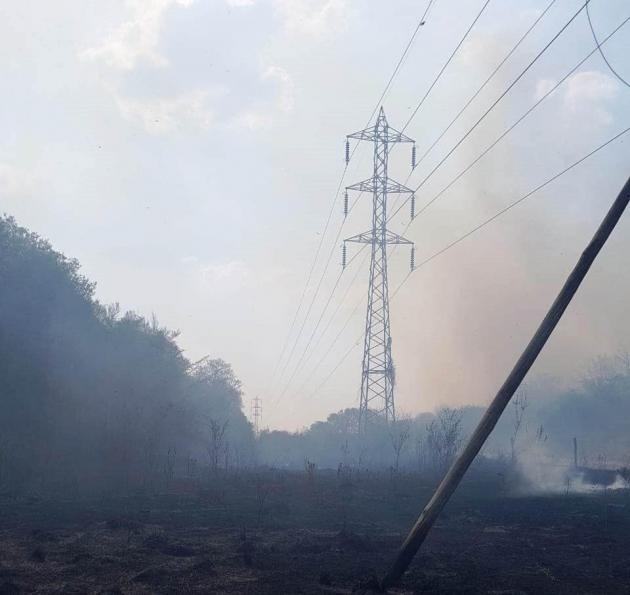 Cinco provincias estuvieron sin luz por una quema de pastizales en Sáenz Peña.