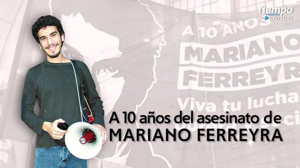 Acto en Barracas por el 10° aniversario del asesinato de Mariano Ferreyra