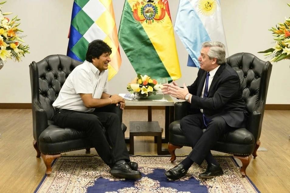 La intimidad de la cena entre Alberto Fernández y Evo Morales tras el triunfo del MAS