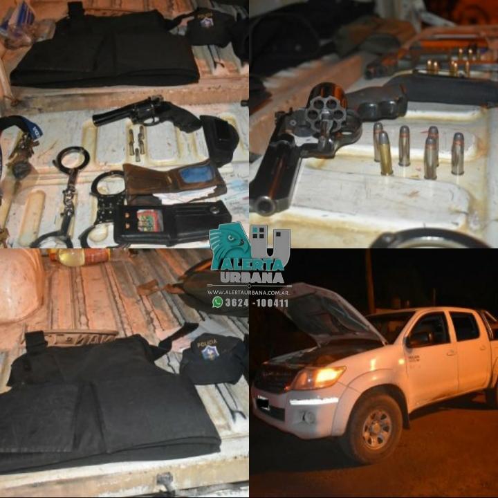 Resistencia: Tenían armas y chaleco balístico; fueron detenidos