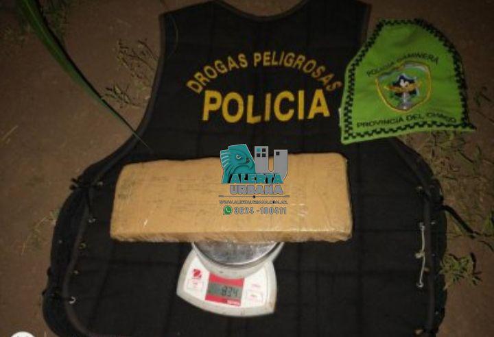 Charata: Intentaron esquivar el control policial y en la huída arrojaron una mochila con marihuana
