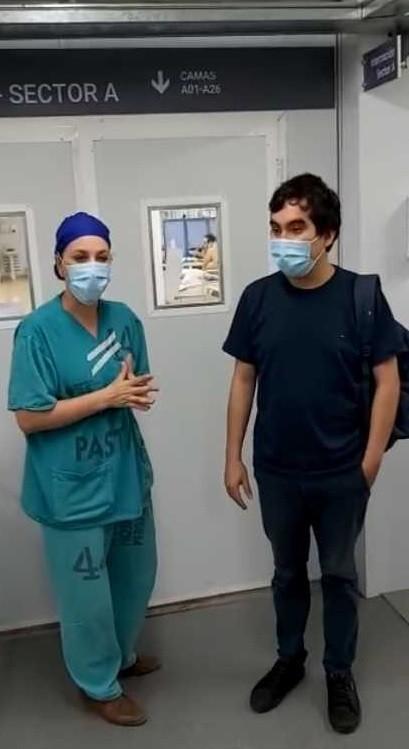 Terapista del hospital modular superó la COVID-19: