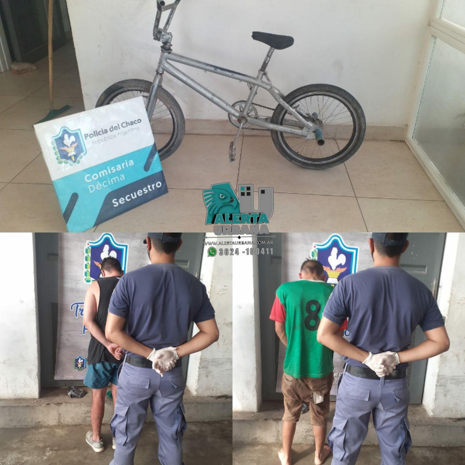 Resistencia: Detienen a dos jóvenes por robar una bicicleta