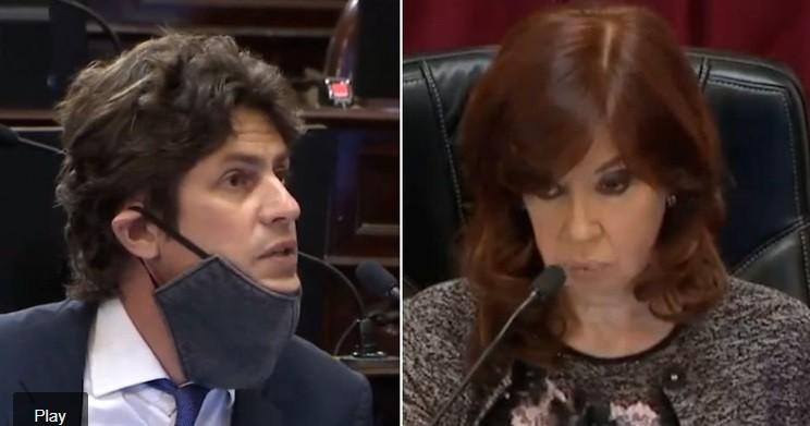 """Otro fuerte cruce entre Cristina Kirchner, Martín Lousteau y Luis Naidenoff: """"¡Qué ganas de complicar las cosas!"""