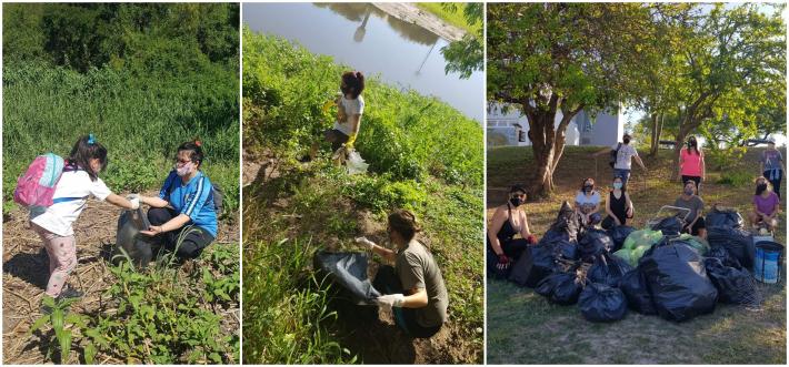 Resistencia: Voluntarios Ambientales limpiaron la ribera del río Negro en el Paseo Costanero y sumaron nuevas actividades.