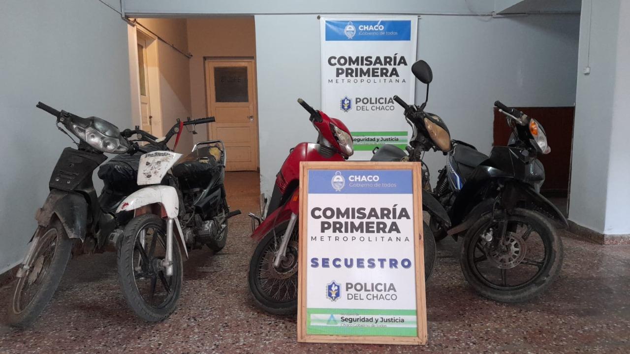 Cinco motos secuestradas por la Comisaría Primera de Resistencia