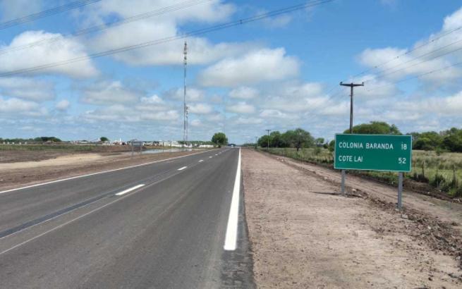 Ruta provincial 13: se habilitan los primeros 18 kilómetros hasta Colonia Baranda