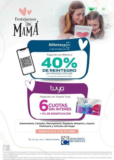 Día de la Madre: comienza la promoción con Tarjeta Tuya y Billetera NBCH24