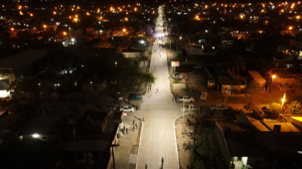 Inauguraron más cuadras de pavimento en Sáenz Peña