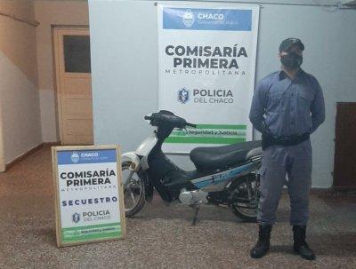 Efectivos de la Comisaría Primera de Resistencia recuperaron dos motocicleta