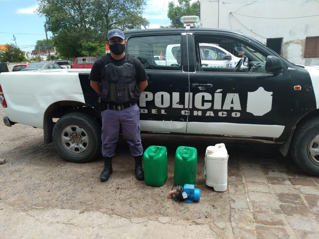 Corzuela: Robaron elementos de dos escuelas pero terminaron demorados
