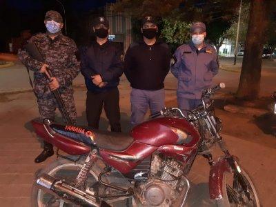 Robó una moto, pero en menos de una hora ya estaba detenido