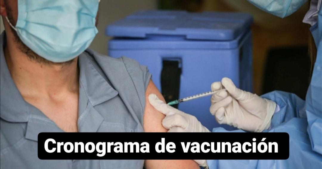 Cronograma de vacunación contra el Covid-19: lunes 18 de octubre