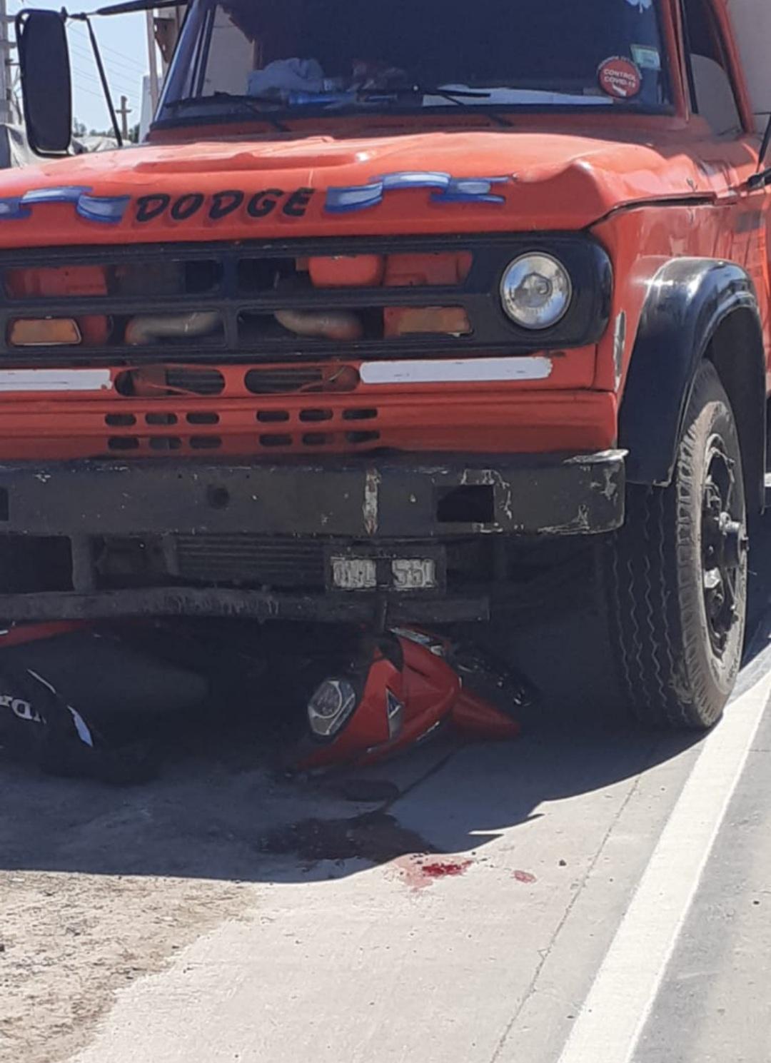 Grave accidente en Av. Alvear y Ruta Nacional Nro. 11