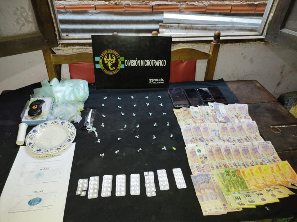 Cocaína y gran cantidad de pastillas incautadas en un bunker del barrio Camalote