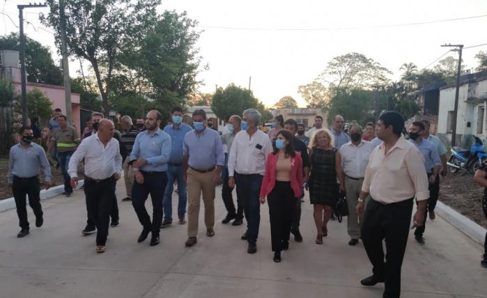Vialidad Provincial ejecuta trabajos de pavimento urbano en San Martin