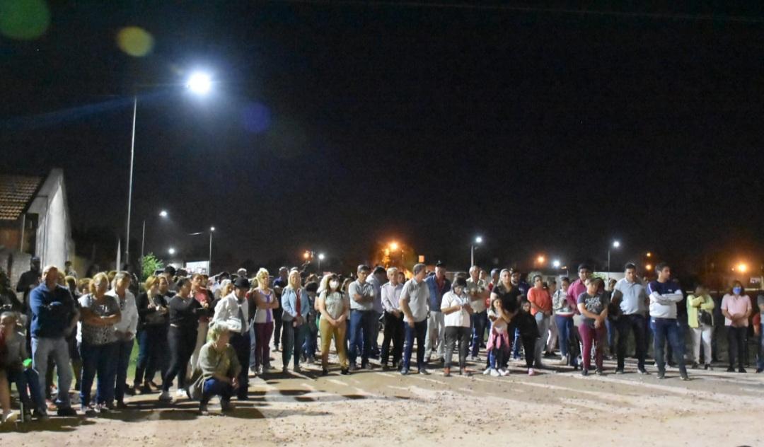 Charata: inauguraron nueva iluminación Led en cuatro barrios