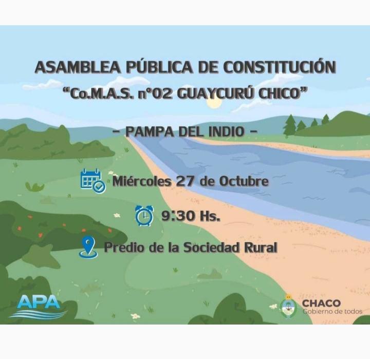 Se realiza la asamblea para la conformación de la Comisión del Manejo de Agua y Suelo del Guaycurú Chico