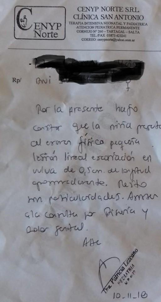 Denuncian supuesto abuso de una nena chaqueña en Salvador Mazza provincia de Salta
