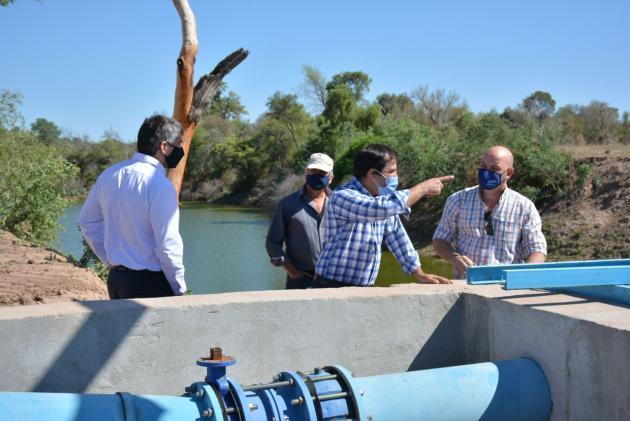 Supervisaron el funcionamiento del complejo Guaycurú-Iné que proveerá de agua al norte del Chaco.