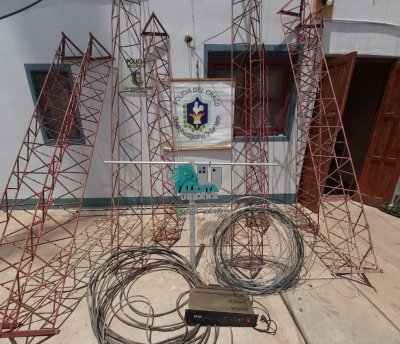 Gral. San Martín: tareas investigativas permitieron hallar una antena de radio y otros elementos sustraídos.