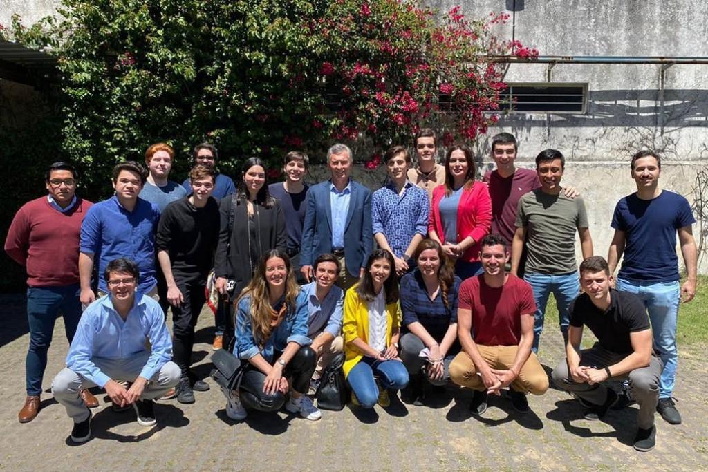 Mauricio Macri recibió a referentes universitarios de Pro y se mostró junto a Darío Nieto