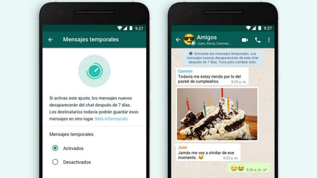 WhatsApp: ya están disponibles los mensajes que se autoeliminan