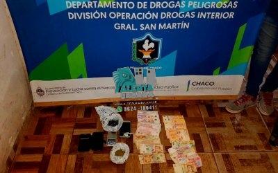 Gral. San Martín: desbaratan venta de narcomenudeo conformada por una ama de casa y sus hijos.