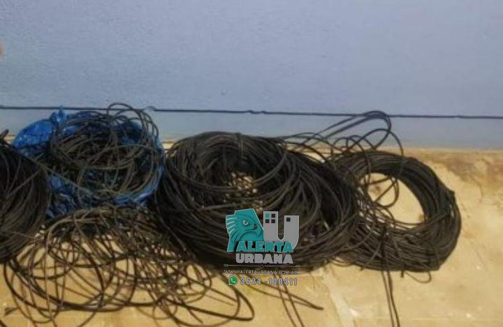 Resistencia: recuperan metros de cables sustraídos