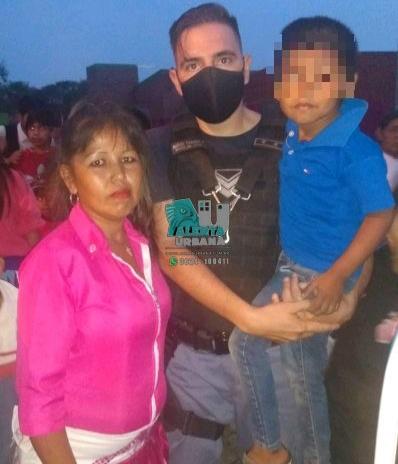 Sáenz Peña: niño desorientado regresó con su madre