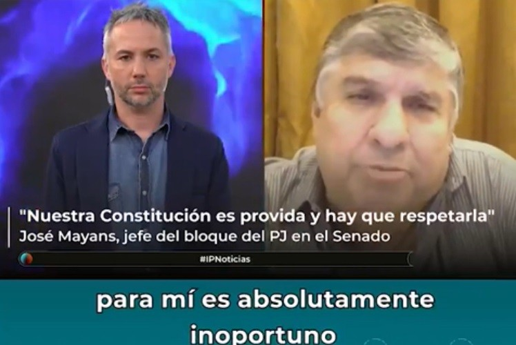 """El jefe del bloque de senadores del Frente de Todos consideró que """"es absolutamente inoportuno tratar ahora el proyecto del aborto"""""""