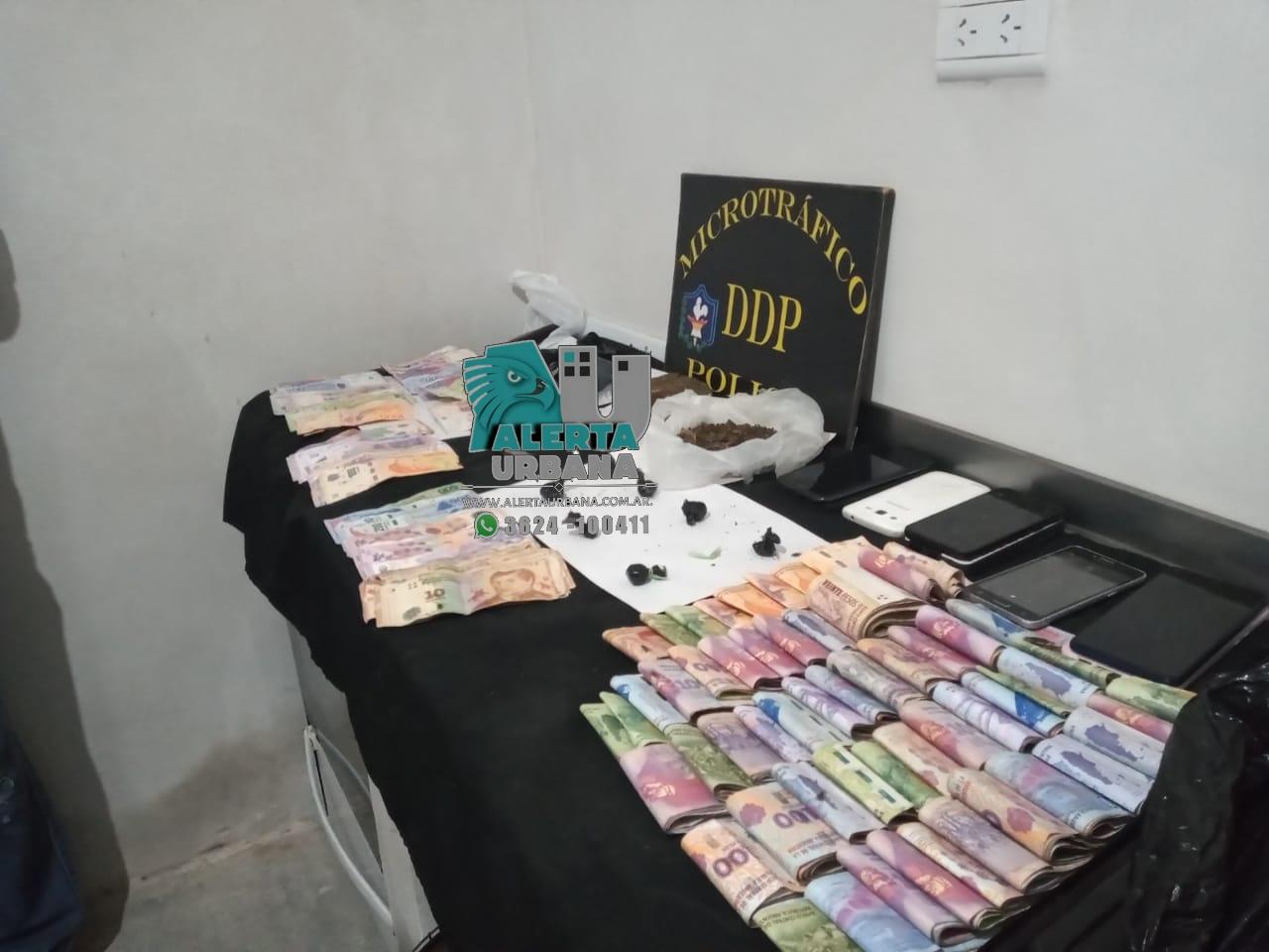 Resistencia: drogas y dinero fue secuestrado en un allanamiento en el Barrio La Rubita.