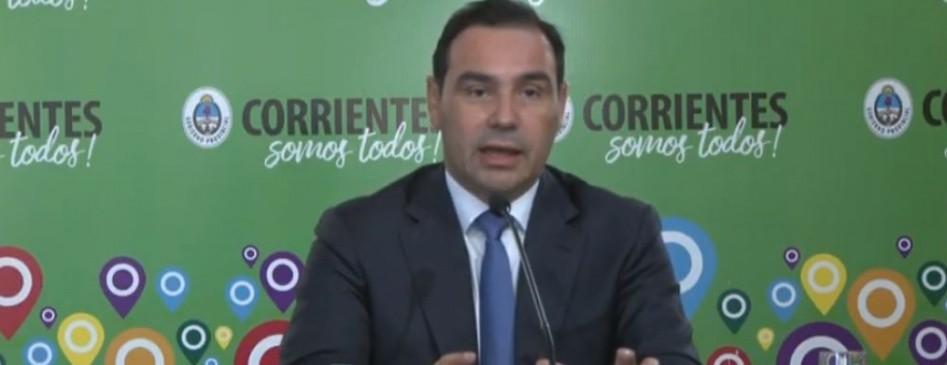 Valdés anunció que Capital, Bella Vista y Paso De Los Libres retroceden a fase 3