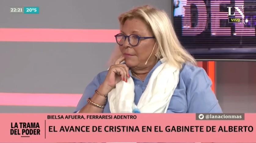 Elisa Carrió, sobre la salida de María Eugenia Bielsa: