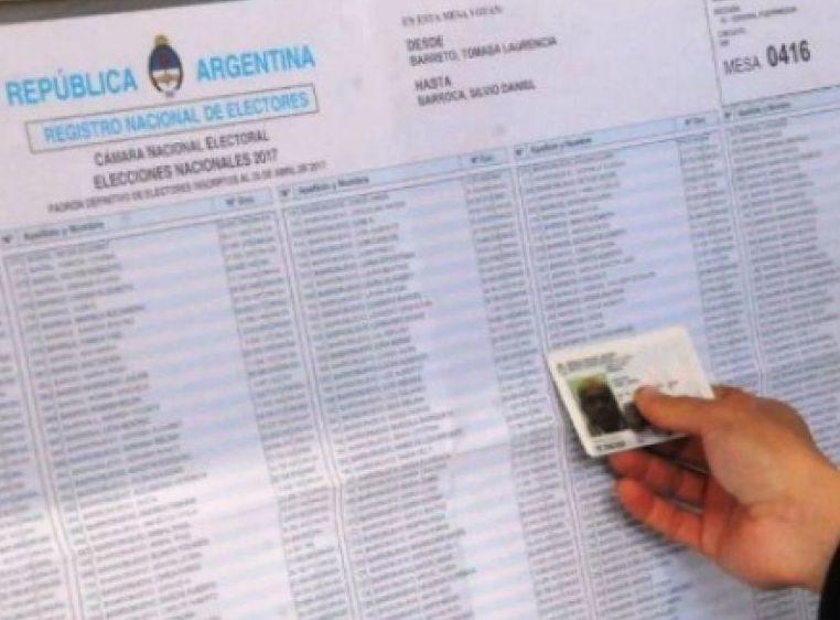 Desde hoy y hasta el 14 de diciembre podrá consultarse el padrón electoral para 2021.