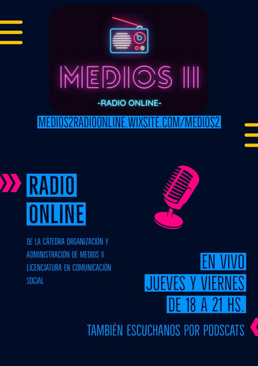 Cátedra de Comunicación Social crea una radio online con una variada oferta de programas