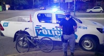 Reuperan la bicicleta robada a un cadete