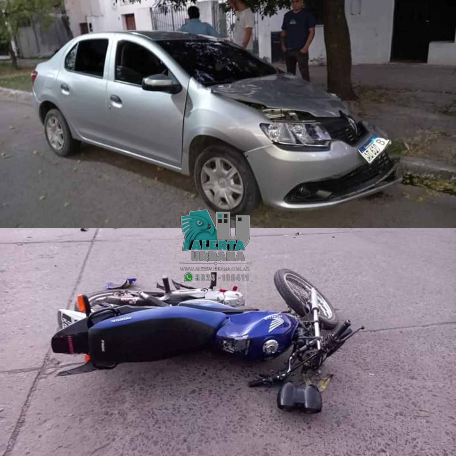 Resistencia: Dos jóvenes gravemente heridos en un accidente de tránsito.