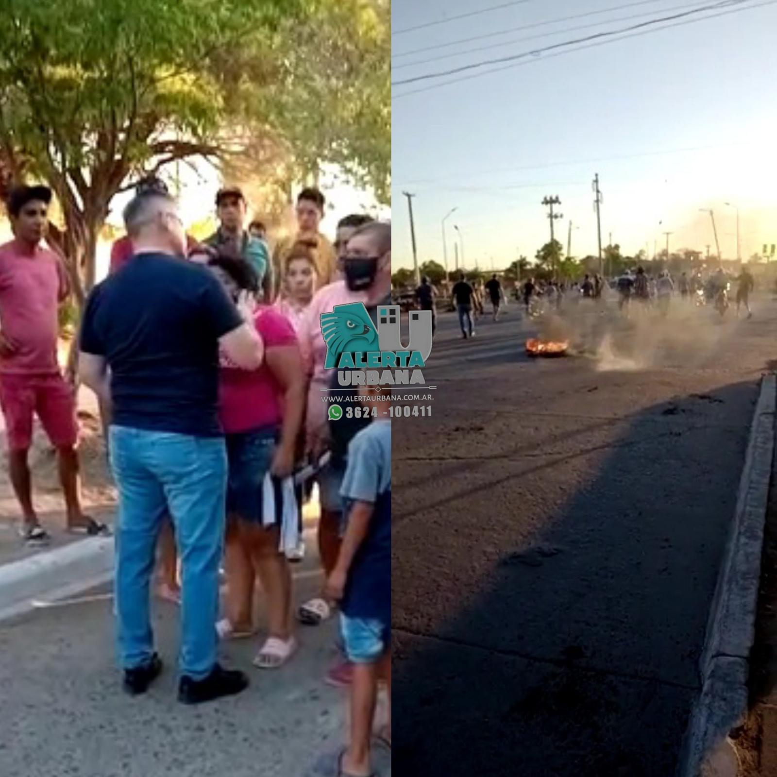 Resistencia: familiares del joven fallecido César Ayala, interrumpian el tránsito.